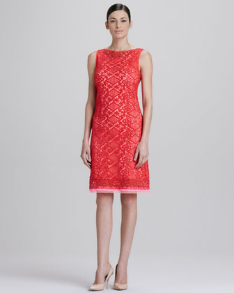 Alyse Diamond Lace Dress
