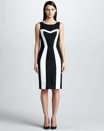 Contrast Pique Dress
