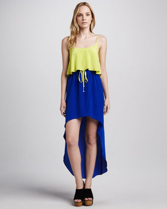 Carrie Colorblock Hi-Lo Dress