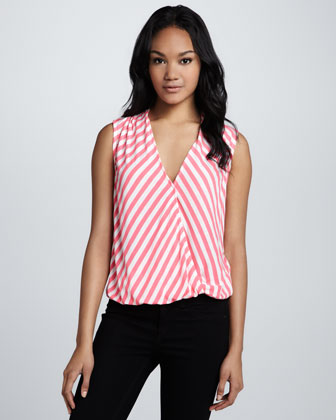 Lila Striped Blouson Top