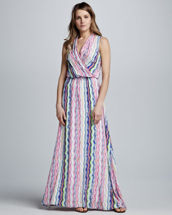 Zuma Surplice Maxi Dress