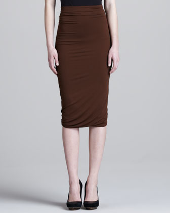 Double-Layer Pencil Skirt