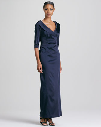 Shawl-Collar Gown