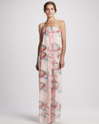 Kiernan Floral Strapless Maxi Dress