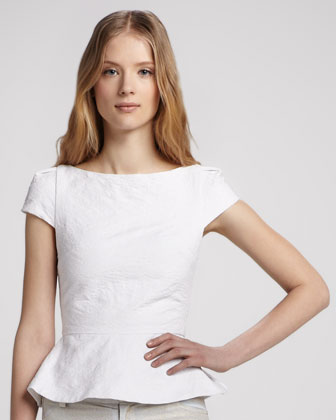 Roz Cap-Sleeve Peplum Top