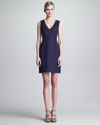 nmx mira sleeveless v-neck dress