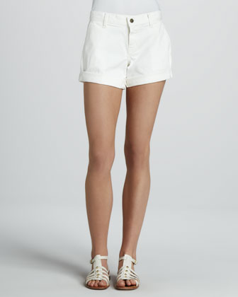 Hampton Cuffed Shorts, White