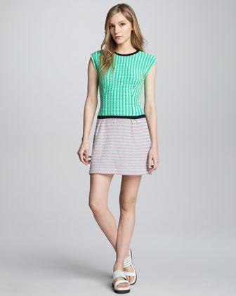 Go Crazy Mixed-Knit Dress