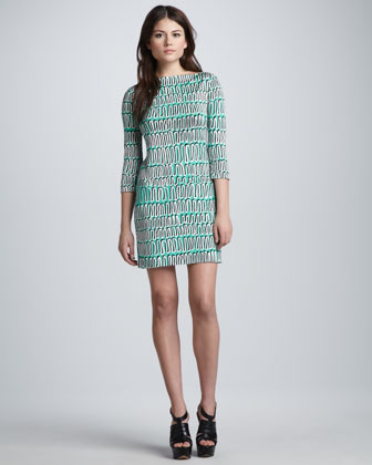 Ruri Spiral-Printed Dress