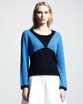 Carla Textured Colorblock Sweater