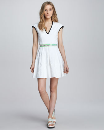 Moonwalk Textured Contrast Dress