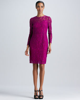 Lace Cocktail Dress with Sleeves