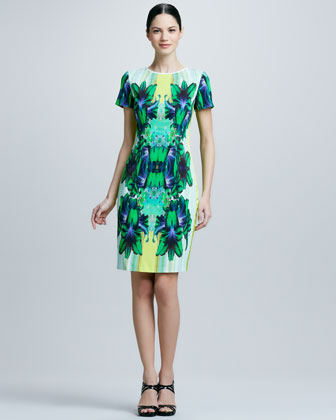 Angie Printed Sheath Dress