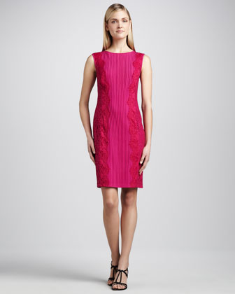 Sleeveless Paneled Cocktail Dress