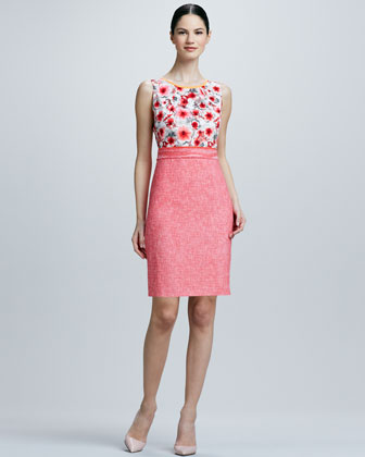 Marina Print/Solid Combo Dress