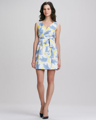 Carol Faux-Wrap Mini Dress