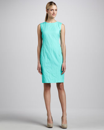 Paige Sleeveless Crinkled Dress