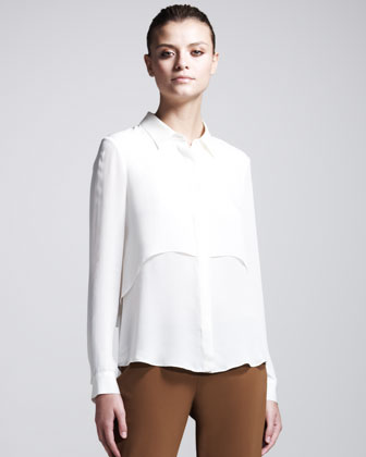 Rosita Layered Silk Blouse