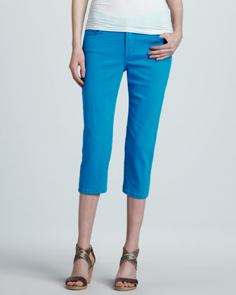 Ariel Bling-Pocket Cropped Jeans, Poolside
