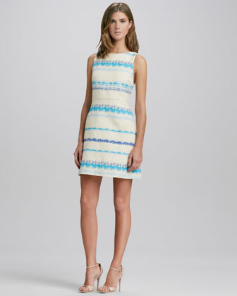 Everleigh Striped Strap-Back Dress