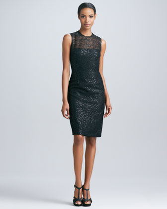 Sequined Lace Party Dress
