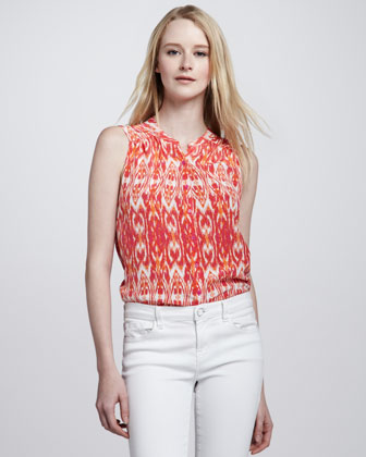 Women's Joie Finnegan Ikat-Print Top