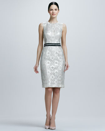 Sleeveless Cocktail Dress with Beaded Band
