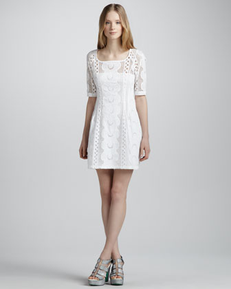 Sandy Beach Lace Dress, White