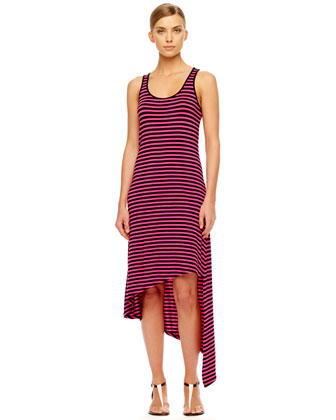 Striped Asymmetric Dress, Women's