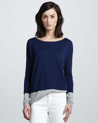 Colorblock Slub Sweater