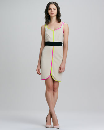 In Love Neon-Trim Dress