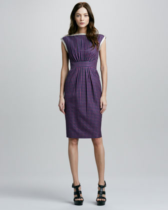 Clover Check Dress