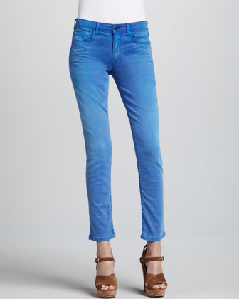 Super Chic Faded Clear Skinny Ankle Jeans