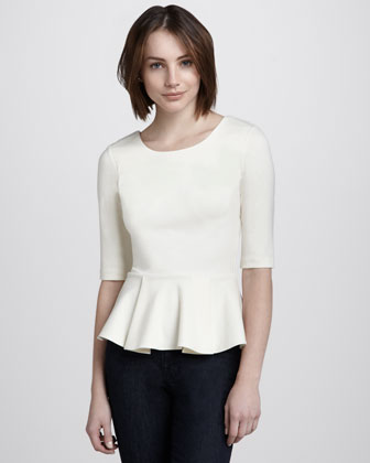 Half-Sleeve Peplum Top