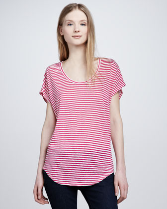 Women's Joie Maddie Striped Slub Top