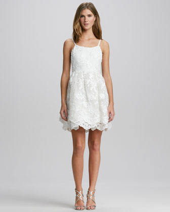 Rora Lace-Overlay Dress