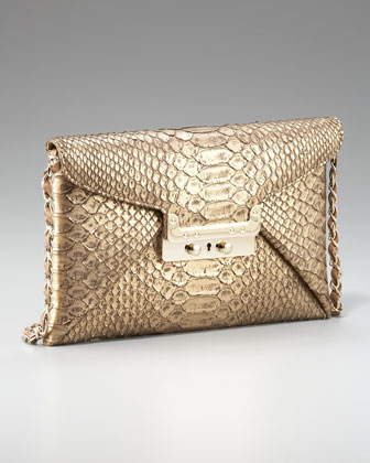 Prive Metallic Python Clutch
