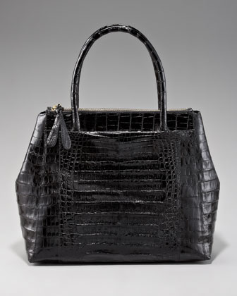 Executive Zip-Top Crocodile Tote