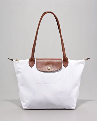 Le Pliage Small Shoulder Tote Bag, White