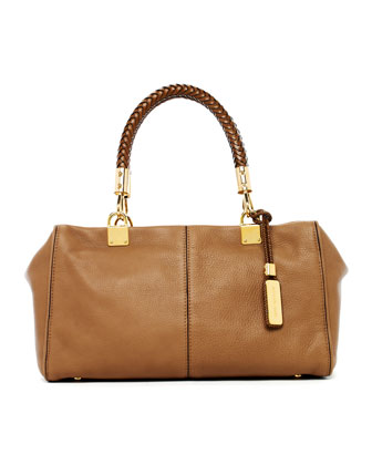 Skorpios Zip-Top Satchel Bag, Desert
