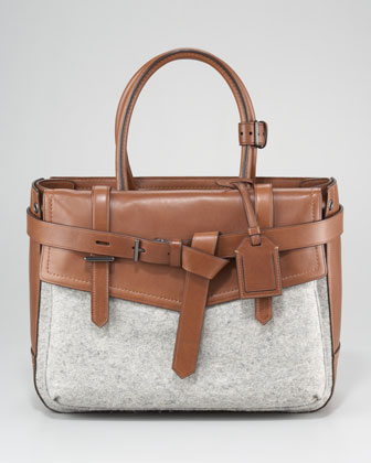 Boxer Tote Bag, Grey Saddle