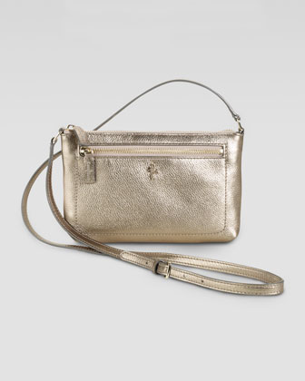Mini Jitney Ali Crossbody Bag, Metallic