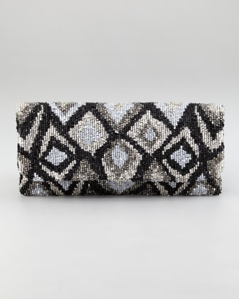 Ikat Beaded Clutch Bag