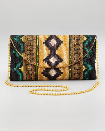 Southwestern Beaded Clutch Bag