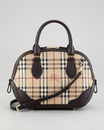 Small Check Satchel Bag