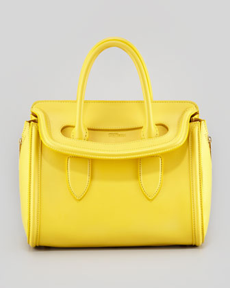 Small Heroine Satchel Bag, Bright Yellow