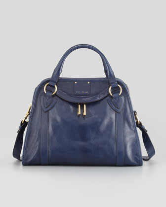 Classic Wellington Satchel Bag, Navy