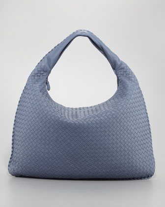 Maxi Veneta Hobo Bag, Blue