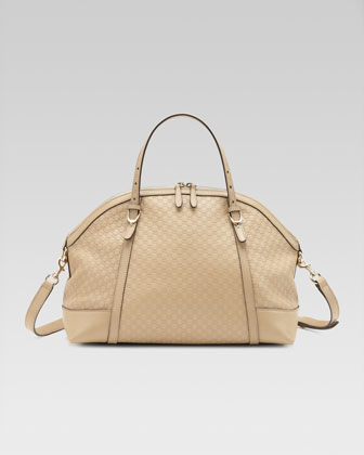 Nice Microguccissima Top-Handle Bag, Cream