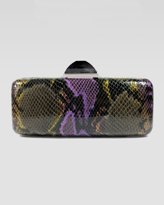 Jessica Slim Rectangle Clutch Bag, Purple